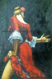 Danseuse de Flamenco en rouge la reproduction de Fabian Perez Peintures à huile