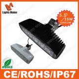 Produits chaud 15W VTT vélo de moteur de phare de travail, barre de lampe à LED LED Projecteur de feu de conduite de voiture Offroad avec couleur noir/blanc