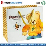 Bolsa de papel comercial de los niños del oso feliz