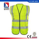 Olá! a saber veste reflexiva da segurança com fluorescência da cor dos bolsos para a construção