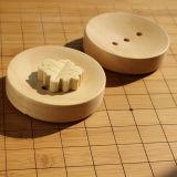 熱い販売のカスタマイズ可能なロゴのゴム製木製の円形の石鹸ボックス