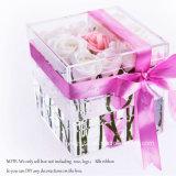 Настраиваемые ясно акриловый роскошный букет роз подарочные коробки с крышкой