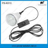 4W iluminación solar calificada del hogar del kit de los bulbos del panel solar 3PCS 1W SMD LED con la carga del teléfono (PS-K013)