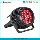 DMX al aire libre 12*4W impermeabilizan la luz de la IGUALDAD de Rgbawv 6 in-1 LED