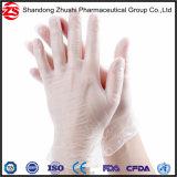 Guanti liberi del PVC del vinile della polvere a gettare dei rifornimenti medici