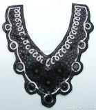 Черный воротник кружевом Sequined ткань валики для одежды Одежда аксессуары