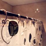 Tenda di acquazzone Tricolor del cerchio PEVA di disegno semplice per la stanza da bagno