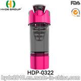 600mlは卸し売りするプラスチック蛋白質のシェーカーのびん、BPA自由なPPのプラスチックサイクロンのコップ(HDP-0322)を