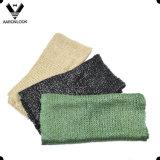 여자 연약한 뜨개질을 하는 형식 빛나는 포일 인쇄 관 스카프