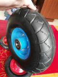 10 polegadas flat livre roda de borracha maciça
