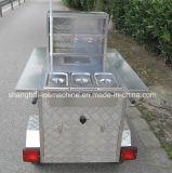 通りの軽食の販売装置のコーヒー食糧トレーラー、ホットドッグのカート、販売のための移動式食糧トラック