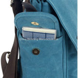 Zaino lavato del sacchetto di Crossbody della spalla della cartella del computer portatile del banco di corsa della tela di canapa