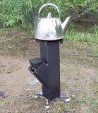 Stufa di campeggio esterna della stufa della stufa del Rocket