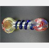 Tuyau d'eau en verre de couleur pour la forme en spirale du filtre du tuyau de verre
