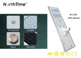 Pays IP65 Integrated allumant le réverbère solaire infrarouge de détecteur de mouvement