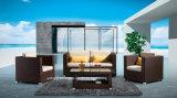 편리한 옥외 정원 가구 PE 등나무 단 하나 &Double 시트 (YT503)에 의해 놓이는 알루미늄 가구 소파