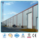Construction d'usine de structure métallique de lumière de grande envergure avec la grue