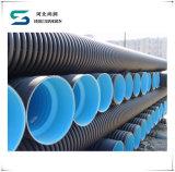 Труба из волнистого листового металла стены двойника HDPE трубы полиэтилена HDPE с высокой плотностью
