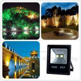 100W AC85-265V IP67 Resistente al agua la iluminación exterior estuche negro Slim COB proyector LED