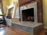 Cheminée noire autonome de granit, cheminée de granit