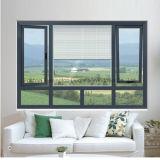 venster van het Blind van het Aluminium van het Glas van de Dubbele Verglazing van 5mm het Aangemaakte (voet-W108)