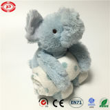 Soft Safe Blanket Set를 가진 아기 Blue Elephant Plush Toy