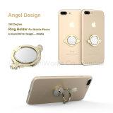Angel Diablo Anillo de diseño con espejo soporte para teléfono móvil / iPad como regalo