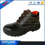 Zapatos de seguridad de acero del negro del casquillo de la punta Ufa019