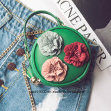 Matériau de PU Fleur sac sac de pièces rondes pour les enfants