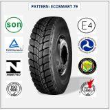 315/80r22.5 (ECOSMART 81) mit Qualitäts-LKW der Europa-Bescheinigungs-(ECE-REICHWEITE-KENNSATZ) u. Bus-Radialgummireifen