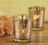 Sostenedores de vela de cristal de la venta del té de la palmatoria caliente de la luz para el regalo del festival