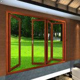 Porte de pliage lourde en aluminium en aluminium glaçante isolante de double de Feelingtop