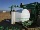 Película fundida do envoltório da ensilagem da agricultura do envoltório da bala de Qualifed 750mm para o envolvimento da forragem