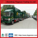 판매를 위한 HOWO 4X2 Euro2 85HP 가벼운 상자 트럭