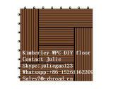 300 * 300 * 22mm Diferentes cores e design WPC DIY Decking Tiles, Made in China Decorative Outdoor Flooring