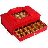 Caja de lujo del chocolate con la ventana de la manija y del animal doméstico
