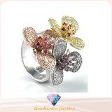 숙녀 판매 은 보석 반지 R10502를 위한 Gift Fashion Jewelry Hot 우아한 꽃 반지
