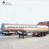 Eixos de 3/4pol 40-55cbm veículo diesel óleo semi reboque-cisterna de combustível