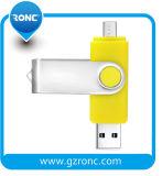 Firmenzeichen 64GB OTG anpassen USB-grelles Feder-Laufwerk