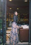 Дизайнер зимой осенью Клетчатую Maxi долго моды женщин юбки