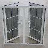 Doppeltes Glas mit Rasterfeld, pulverisieren überzogenes Aluminiumflügelfenster-Fenster K03052
