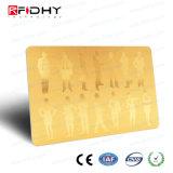 La impresión a todo color RFID del oro caliente del sello se dobla tarjeta de la frecuencia