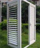 Порошок белого цвета из алюминия с покрытием дверная рама перемещена двери жалюзи с регулируемыми ножи (ACD-017)