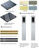 ヘアラインステンレス鋼の版または塗られた鋼鉄が付いている通用口の貨物か貨物エレベーター