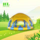 2 in 1 rundem aufblasbarem Swimmingpool mit Zelt-Deckel