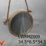 Cuerda de metal de la vendimia Enmarcado decorativo Espejo redondo