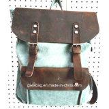 Спорта перемещения Backpack холстины способа новый конструированный мешок реального кожаный вскользь (#20015)