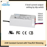 driver corrente costante del triac/ELV Dimmable LED di 20W 350/400/450/500mA