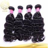 Китай дешевые оптовые необработанных природных индийского Virgin прав за рубежом Weft черного цвета волос