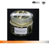 Círio jarra de vidro de aroma com papel Adesivo e Etiqueta de giro para a decoração moderna